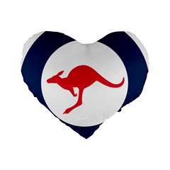 Roundel Of The Australian Air Force Standard 16  Premium Flano Heart Shape Cushions by abbeyz71