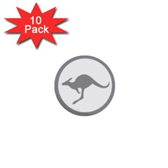 Low Visibility Roundel Of The Australian Air Force 1  Mini Buttons (10 Pack)  by abbeyz71