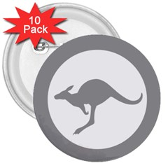 Low Visibility Roundel Of The Australian Air Force 3  Buttons (10 Pack)  by abbeyz71