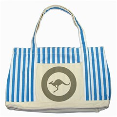 Low Visibility Roundel Of The Australian Air Force Striped Blue Tote Bag by abbeyz71