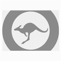Low Visibility Roundel Of The Australian Air Force Large Glasses Cloth by abbeyz71