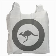 Low Visibility Roundel Of The Australian Air Force Recycle Bag (two Side)  by abbeyz71