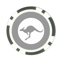Low Visibility Roundel Of The Australian Air Force Poker Chip Card Guard (10 Pack) by abbeyz71
