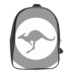 Low Visibility Roundel Of The Australian Air Force School Bag (large) by abbeyz71