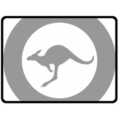 Low Visibility Roundel Of The Australian Air Force Fleece Blanket (large)  by abbeyz71