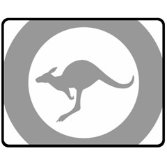 Low Visibility Roundel Of The Australian Air Force Double Sided Fleece Blanket (medium)  by abbeyz71