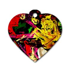 Spooky Attick 1 Dog Tag Heart (one Side)