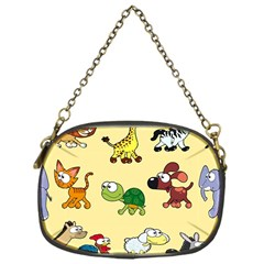 Group Of Animals Graphic Chain Purses (one Side)