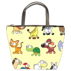 Group Of Animals Graphic Bucket Bags by Sapixe