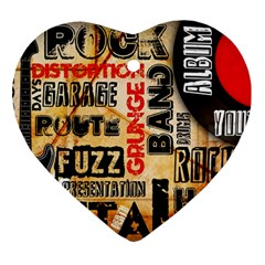 Guitar Typography Ornament (heart) by Sapixe