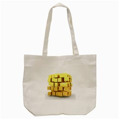 Gold Bars Feingold Bank Tote Bag (cream) by Sapixe