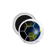 Hexagon Diamond Earth Globe 1 75  Magnets by Sapixe