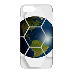 Hexagon Diamond Earth Globe Apple Iphone 8 Plus Hardshell Case by Sapixe
