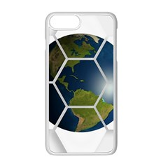 Hexagon Diamond Earth Globe Apple Iphone 8 Plus Seamless Case (white) by Sapixe
