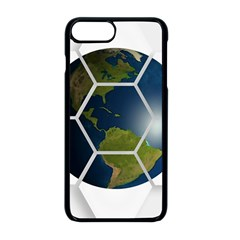 Hexagon Diamond Earth Globe Apple Iphone 8 Plus Seamless Case (black) by Sapixe