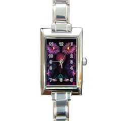 Happy New Year New Years Eve Fireworks In Australia Rectangle Italian Charm Watch by Sapixe