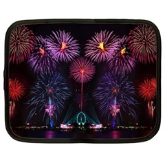Happy New Year New Years Eve Fireworks In Australia Netbook Case (xl)  by Sapixe