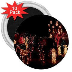 Holiday Lights Christmas Yard Decorations 3  Magnets (10 Pack)  by Sapixe