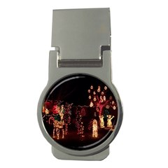 Holiday Lights Christmas Yard Decorations Money Clips (round)  by Sapixe