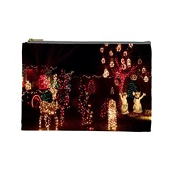 Holiday Lights Christmas Yard Decorations Cosmetic Bag (large)  by Sapixe