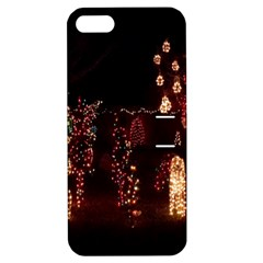 Holiday Lights Christmas Yard Decorations Apple Iphone 5 Hardshell Case With Stand by Sapixe