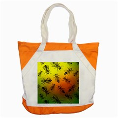 Insect Pattern Accent Tote Bag