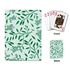 Leaves Foliage Green Wallpaper Playing Card by Sapixe