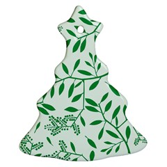 Leaves Foliage Green Wallpaper Christmas Tree Ornament (two Sides) by Sapixe