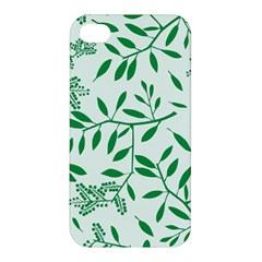 Leaves Foliage Green Wallpaper Apple Iphone 4/4s Hardshell Case by Sapixe