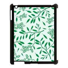 Leaves Foliage Green Wallpaper Apple Ipad 3/4 Case (black) by Sapixe