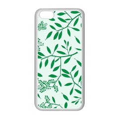 Leaves Foliage Green Wallpaper Apple Iphone 5c Seamless Case (white) by Sapixe