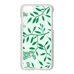 Leaves Foliage Green Wallpaper Apple Iphone 7 Seamless Case (white) by Sapixe