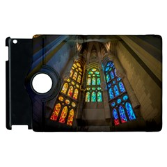 Leopard Barcelona Stained Glass Colorful Glass Apple Ipad 3/4 Flip 360 Case