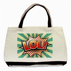 Lol Comic Speech Bubble  Vector Illustration Basic Tote Bag (two Sides) by Sapixe