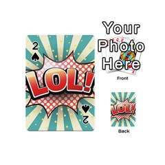 Lol Comic Speech Bubble  Vector Illustration Playing Cards 54 (mini)  by Sapixe