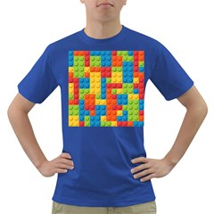 Lego Bricks Pattern Dark T Shirt by Sapixe