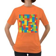 Lego Bricks Pattern Women s Dark T Shirt by Sapixe