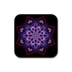 Mandala Circular Pattern Rubber Square Coaster (4 Pack)  by Sapixe