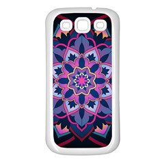 Mandala Circular Pattern Samsung Galaxy S3 Back Case (white) by Sapixe