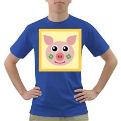 Luck Lucky Pig Pig Lucky Charm Dark T Shirt by Sapixe