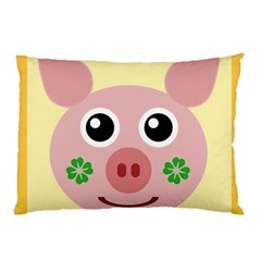 Luck Lucky Pig Pig Lucky Charm Pillow Case (two Sides) by Sapixe