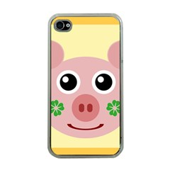 Luck Lucky Pig Pig Lucky Charm Apple Iphone 4 Case (clear) by Sapixe