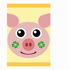 Luck Lucky Pig Pig Lucky Charm Small Garden Flag (two Sides) by Sapixe