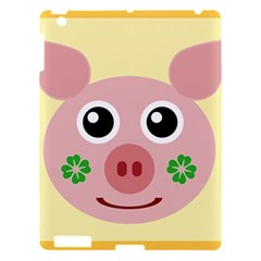 Luck Lucky Pig Pig Lucky Charm Apple Ipad 3/4 Hardshell Case by Sapixe
