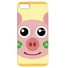 Luck Lucky Pig Pig Lucky Charm Apple Iphone 5 Hardshell Case With Stand by Sapixe