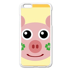 Luck Lucky Pig Pig Lucky Charm Apple Iphone 6 Plus/6s Plus Enamel White Case by Sapixe
