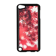 Maple Leaves Red Autumn Fall Apple Ipod Touch 5 Case (black) by Sapixe