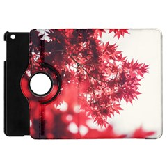 Maple Leaves Red Autumn Fall Apple Ipad Mini Flip 360 Case by Sapixe