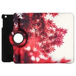Maple Leaves Red Autumn Fall Apple iPad Mini Flip 360 Case Front