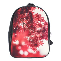 Maple Leaves Red Autumn Fall School Bag (xl) by Sapixe